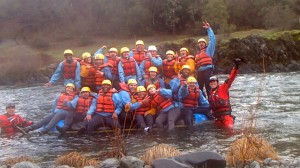 All 20 atop the raft