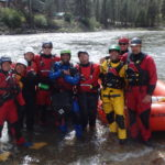 International Rafting Federation Instructor Candidates pose after a run on the South Fork of the Payette River