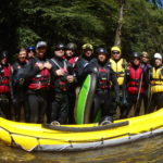Commander from Border Patrol Search and Rescue train the swiftwater of the Nantahala River
