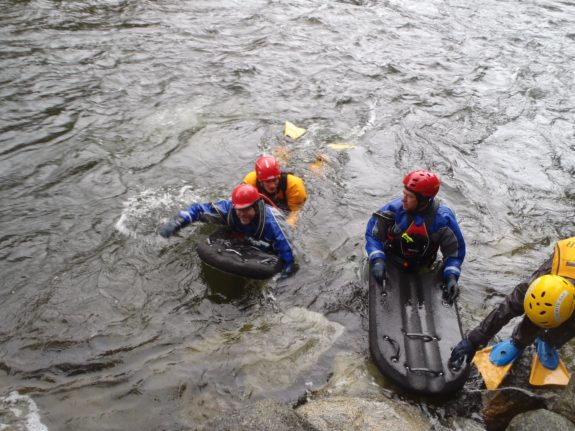 river board used for swiftwater rescue